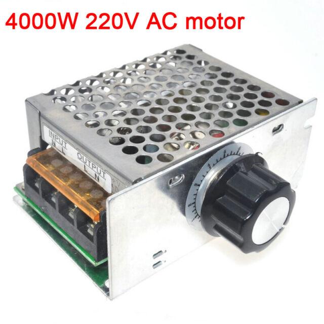 4000W 220V AC SCR Motor Speed Controller Module Voltage Regulator Dimmer New AU