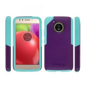 huge selection of 02aca f3d7e Details about New Motorola Moto E4 Otterbox Achiever Cover Dual Layer Case  - Purple/Teal