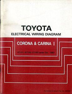 Details zu 1983 TOYOTA CORONA CARINA II AT151 CT150 CT ELECTRICAL WIRING on