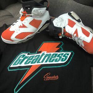 9064b7502c0712 Image is loading Shirt-Match-Jordan-6-Gatorade-Win-Like  Gatorade 6s Sneaker  ...