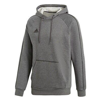 adidas Core 18 Hoody Kapuzensweatshirt Kids grau 140
