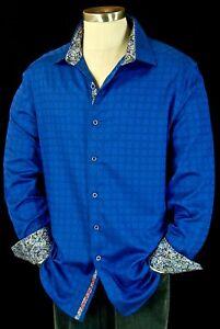 Robert 2xlrialto NwtBlauw Geometrisch Jacquard Graham Sportshirt 6YyIbvmgf7