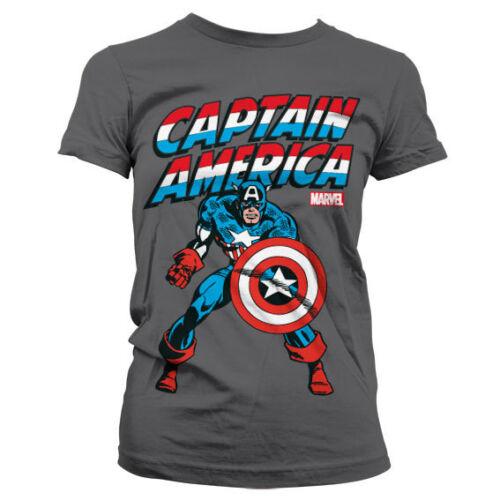 Captain America Women T-Shirt S-XXL Sizes Officially Licensed Marvel Comics
