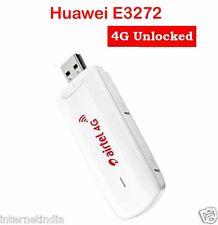 Airtel Huawei 4G 3G 2G LTE usb modem E3272 Jio Support unlocked Multi SIM (USED)
