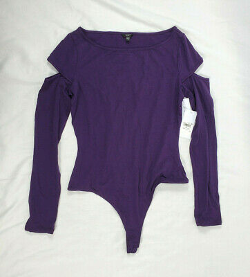 GUESS Womens Long Sleeve Ania Cut Out Bodysuit