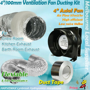 HOUSE-ROOM-SILENT-QUIET-4-034-100MM-INLINE-EXHAUST-FAN-DUCTING-VENTILATION-KIT