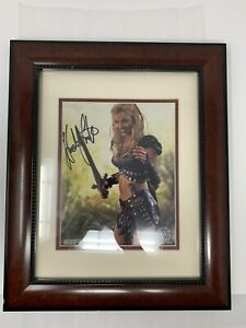 Xena-Hudson-Leick-as-Callisto-Signed-Framed-Print-Photo-Autographed-18x15