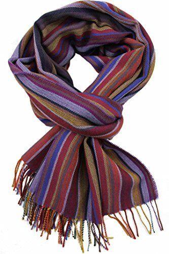 Webschal 100/% Merinowolle violett bunt mehrfarbig NEU