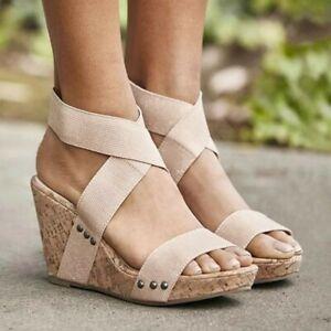 Women High Heels Sandals Casual Wedges