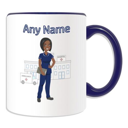 Personalised Gift Tunic Nurse Navy Uniform Job Mug Cup Birthday Xmas Name Text