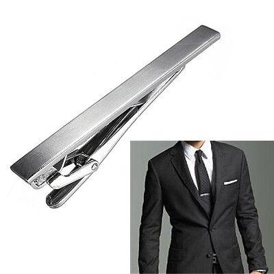 Gentlemen Metal Silver Tone Simple Practical Necktie Tie Bar Clasp Pin Clip Cuff