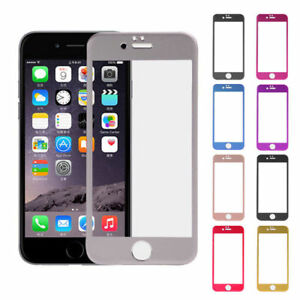 cheap for discount 7b0c5 b01be Details about HD Tempered Glass Full Screen Protector Front Plate for  iPhone 6s iPhone 6 Color