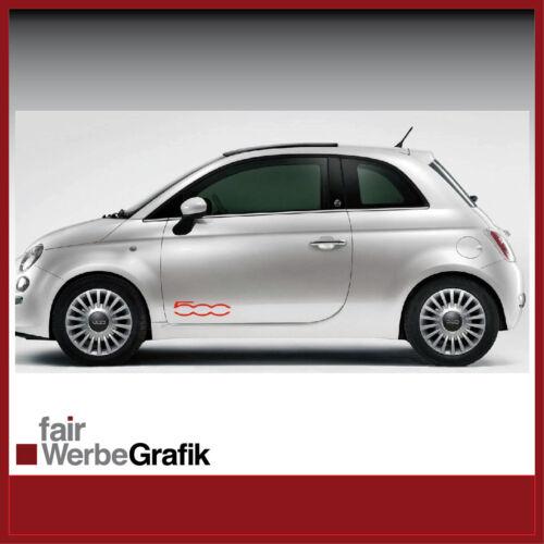 Autocollant//Sticker//décoration//Pages Bandes//FIAT 500//#204