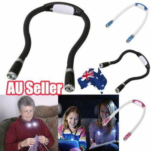 Portable Knitting & Crocheting Lamp Handsfree Neck Light EY