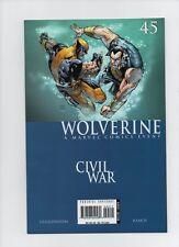Wolverine #45 - Civil War Crossover Namor The Sub-Mariner - (Grade 9.2) 2006