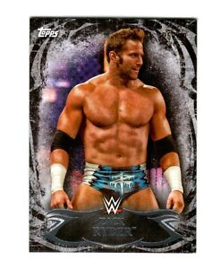 WWE-Zack-Ryder-11-2015-Topps-Undisputed-Black-Parallel-Base-Card-SN-5-of-99