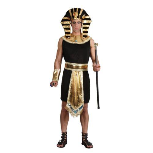 Adult EGYPTIAN KING Pharaoh Tutankhamun Pyramid Fancy Dress Costume Male Mens