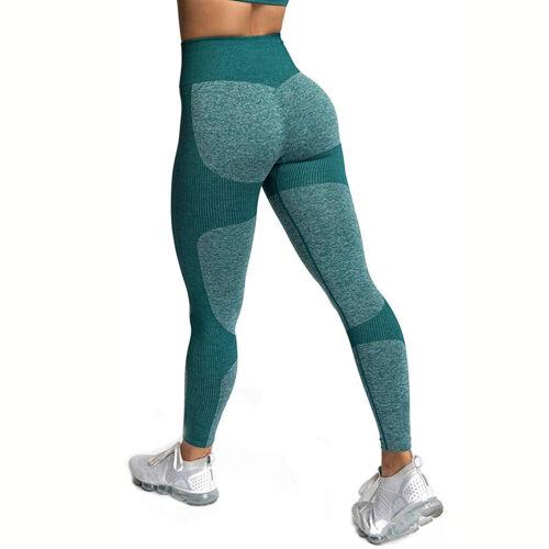 High Waist Yoga Pants Seamless Women Sports Leggings Bra Push Up Workout Fitness
