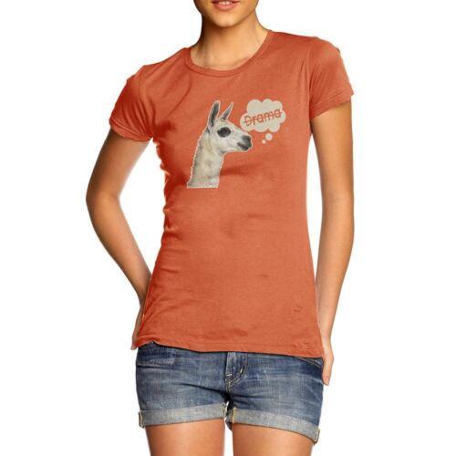 Funny Tee Shirts For Women Llama Drama Women/'s T-Shirt