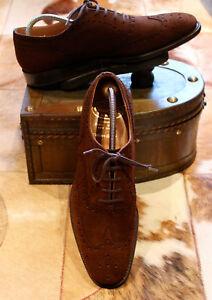 Church's Suede Brogue 'Buck' Custom Grade Brown Uomo Shoes Dark Uk 9b r6frqwB