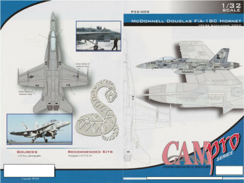 P32-009 CAM PRO DECAL F//A-18C HORNET 1//32 SCALE SIDEWINDERS VFA-86