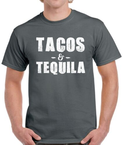 Tacos /& Tequila Shirts Tops T-shirts for Men Men/'s Mexican Cool Vacation