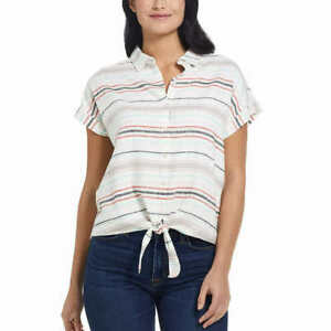 Vintage Striped Linen Top  SM