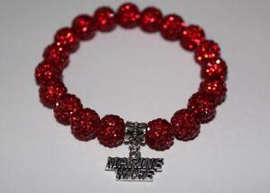 Patriotic-Marine-Wife-Red-Charm-Crystal-Bead-Bracelet-Military-Wife