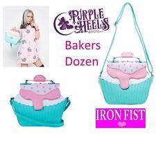 Iron Fist panaderos Docena De Cupcakes Perla Rosa Detalle Tote/Bolso de hombro Stock Limitado