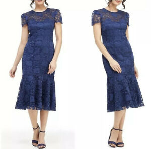 Gal-Meets-Glam-Eve-Illusion-Lace-Midi-Dress-Navy-Size-00-NWT