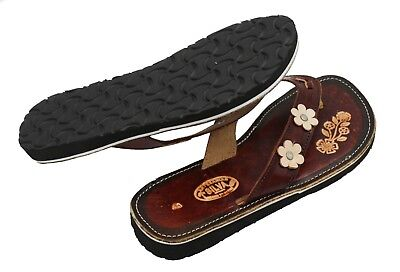 3 Ladies Genuine Leather Mexican Design Sandals Style Silvia