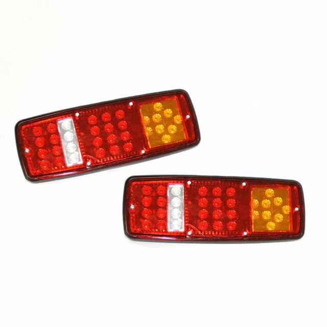 2pcs 52LED Tail Stop Light Rear Lamps Indicator 24V Trailer Truck Lorry Caravan