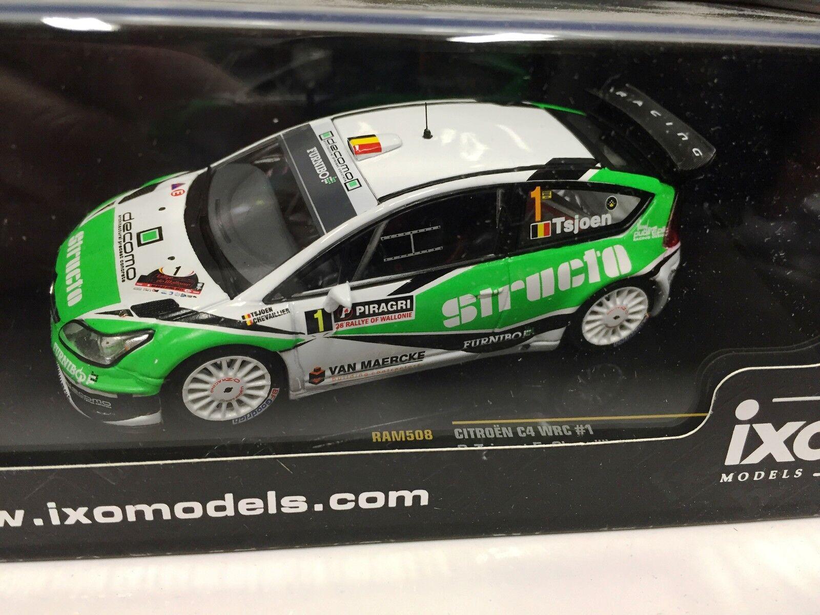 CITROEN C4 WRC  1 TSJOEN- R.WALLONIE 2011- 1 43 IXO VOITURE DIECAST-RAM508
