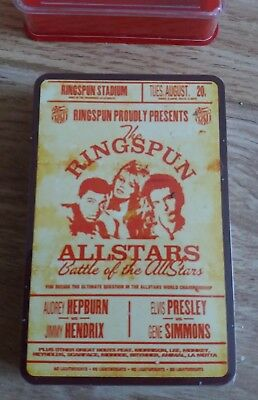 10 X Ringspun Allstars-battaglia Della Allstars-top Trumps Card Game-sigillato-