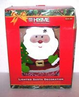 Lighted Santa 12 Decoration Home Tin Metal Figure Holiday Christmas Decor