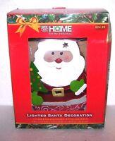 Lighted Santa 12 Decoration Home Tin Metal Figure Holiday Christmas Decor