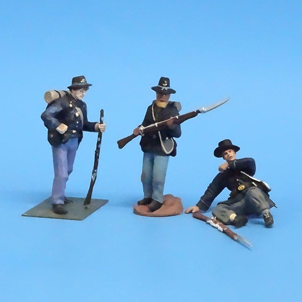 CORD-173 - Iron Brigade (3 Figures) - ACW - Manufacturer Unknown - 54mm Metal