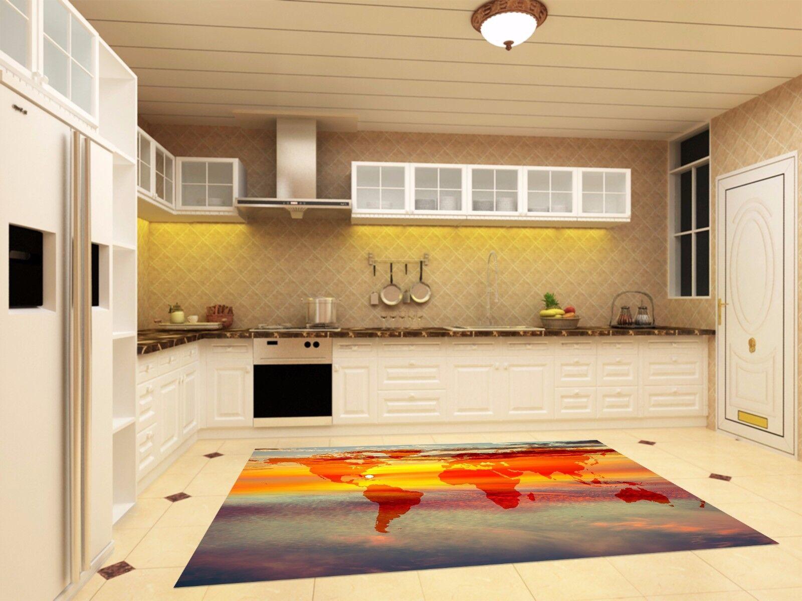 3D Sun Sky Map 97 Kitchen Mat Floor Murals Wall Print Wall AJ WALLPAPER AU Carly