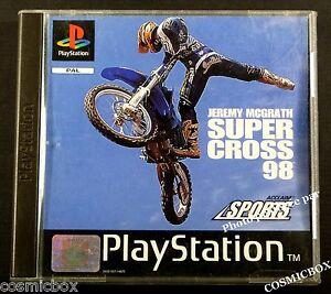 playstation 1 jeremy mcgrath super cross 98 jeu de moto console psx ps1 ps2 pal ebay