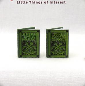 CELTIC FAIRY TALES SET 2 Miniature Books 1:12 Scale Dollhouse Illustrated Book