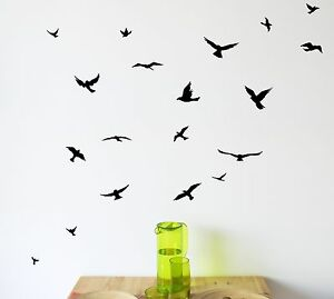 Image Is Loading Flock Of Birds Wall Decal Set Removable Stickers