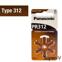 New, Panasonic Hearing Aid Batteries Size 312, 8 Cards Of 6, 48 Pack