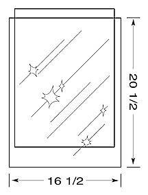 16-1-2-x-20-1-2-inch-MYLAR-Sleeve-s-4mil-no-flap