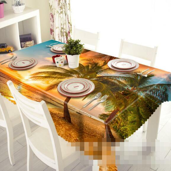 3D Sun Trees 4 Tablecloth Table Cover Cloth Birthday Party Event AJ WALLPAPER AU