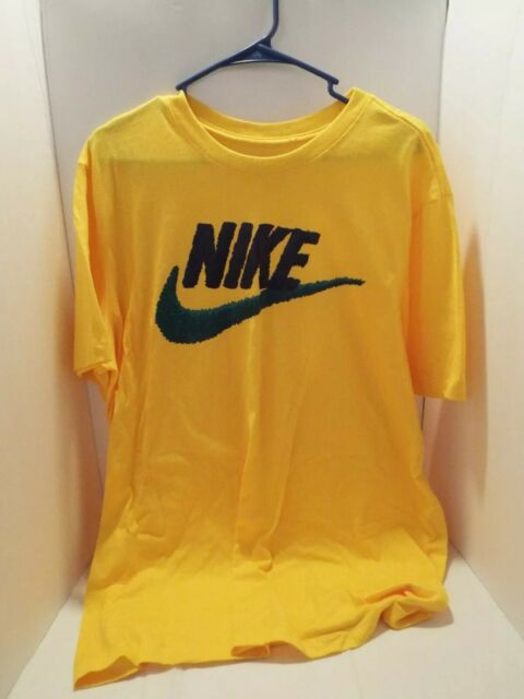 Men's Nike T-shirt Yellow Blue Green Teal Large NWOT