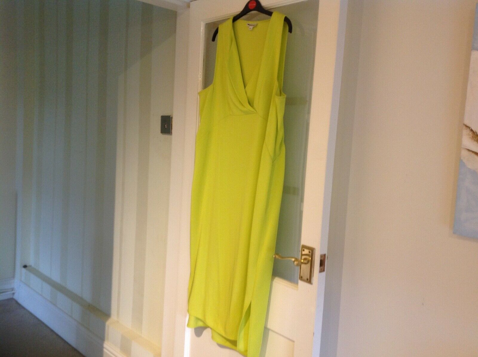 Ladies Dress for Races or Wedding in Lime Green