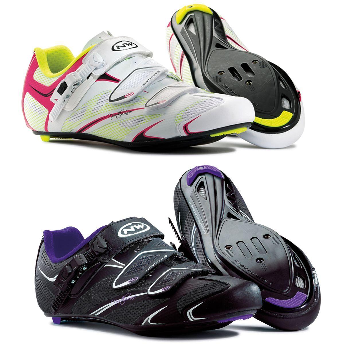 Northwave Starlight SRS para mujer carretera Ciclismo Zapatos Negro púrpuraa Y blancoo Fucsia