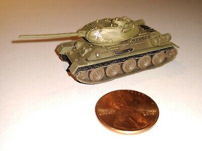 With slogan on turret. Takara 1//144 World Tank Museum 3 #51 Russian T34//76