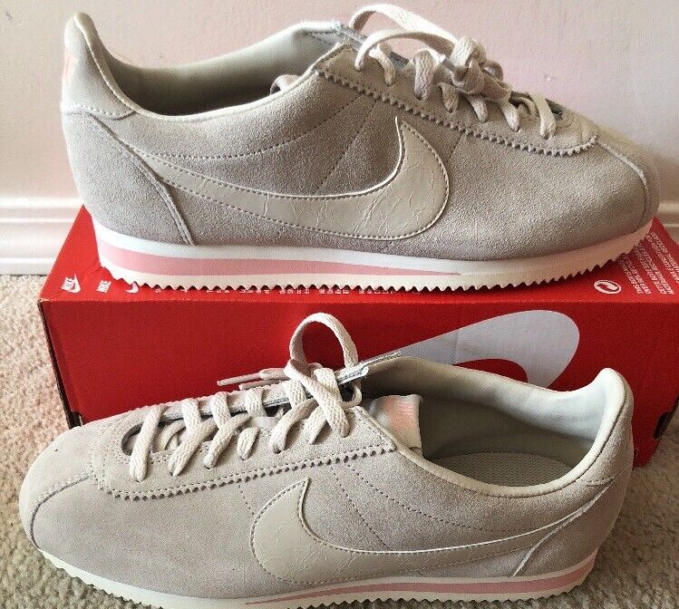 NIKE Womens Classic Cortez Suede AA3839-003 DESERT SAND Pink Size 12
