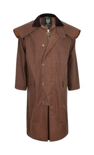 Portmann Unisex Stockman Long Cape Full Length Wax Jacket Coat /& Hood